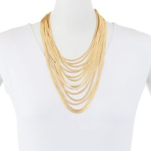 LYDELL NYC Multiple Strands Bib Necklace